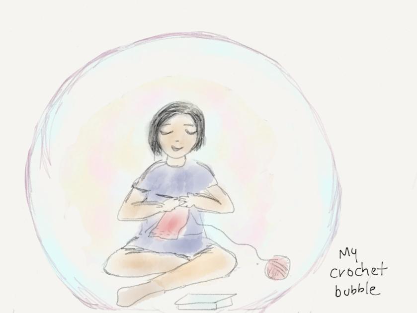 Me in my Crochet Bubble