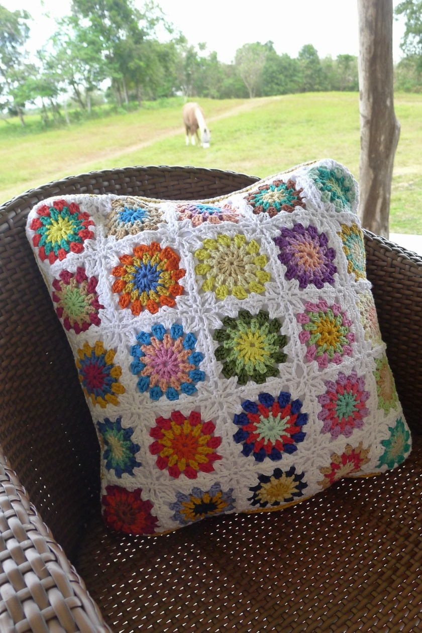 crochet pillow number two
